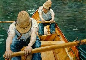 Boaters Rowing on the Yerres 1877