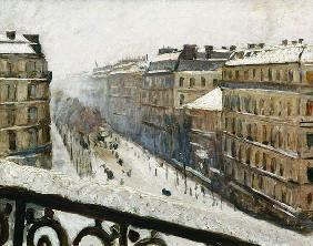 Boulevard Haussmann in the Snow 1879