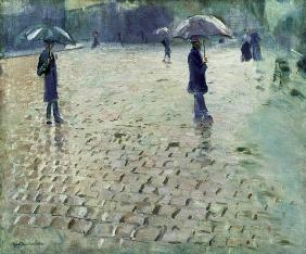 Study for a Paris Street, Rainy Day 1877