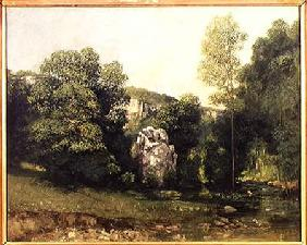 The stream of the Breme emerging from the Puits Noir 1865