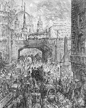 Ludgate Hill, from ''London, a Pilgrimage'', written by William Blanchard Jerrold (1826-94) pub. 187