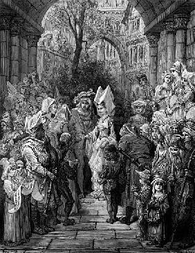 The Bride and Groom entering the hall, scene from ''The Rime of the Ancient Mariner'' S.T. Coleridge
