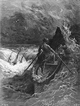 The Pilot faints, scene from ''The Rime of the Ancient Mariner'' S.T. Coleridge,S.T. Coleridge, publ