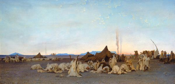 Evening Prayer in the Sahara 1863