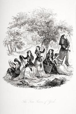The five sisters of York, illustration from `Nicholas Nickleby' by Charles Dickens (1812-70) publish 1568