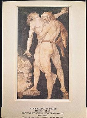 Hercules and Antaeus c.1530  on