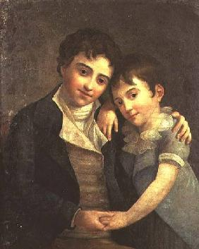 Portrait of Karl Thomas (1784-1858) and Franz Xaver (1791-1844), the two sons of Wolfgang Amadeus Mo 1798