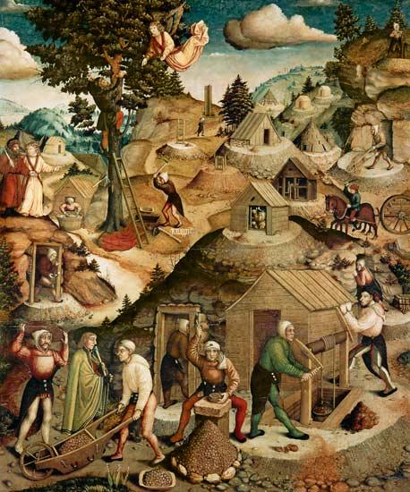 Silberbergbau - Hans Hesse als Kunstdruck oder handgemaltes Gemälde.