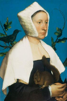 Lady with a Squirrel and a Starling c.1526-28