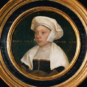 The wife of a dignitary at the court of King Henry VIII 1534