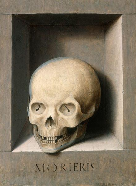 Totenkopf r ckseite vom johannes und ve hans memling - Totenkopf wandbild ...