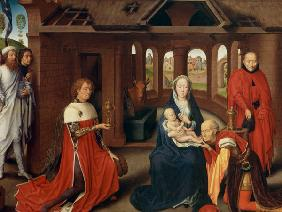 Adoration of the Magi, central panel of the Triptych of the Adoration of the Magi c.1470-72