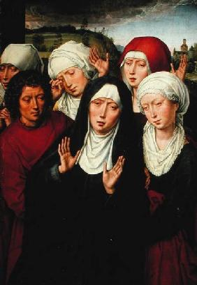 The Holy Women, right hand panel of the Deposition Diptych c.1492-94