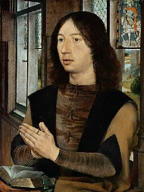 The Donor, from the right wing of the Diptych of Maerten van Nieuwenhove 1487
