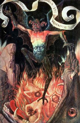 Hell, right hand panel from the Triptych of Earthly Vanity and Divine Salvation c.1485