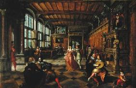 Scene of a Ball in a Flemish Interior