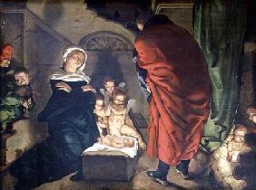 Kunstdruck von Hans Pleydenwurff - Nativity
