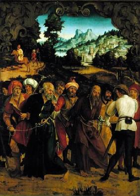 The Arrest of St. Peter and St. Paul, from a polyptych depicting Scenes from the Lives of SS. Peter