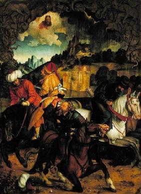 The Conversion of St. Paul, from a polyptych depicting Scenes from the Lives of SS. Peter and Paul