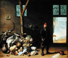 Peasant in an Interior or, Kitchen with a Still Life