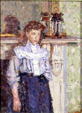 Girl by a Mantelpiece
