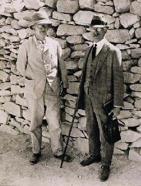 The Unofficial Opening of the Inner Chamber of the Tomb of Tutankhamun. Dr. A. Gardiner and Professo