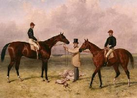 "L to R ""Lord Lyon"", Winner of the Derby, St. Leger and 2,000 guineas; ""Elland"", Winner of Ascot Gold 1866"