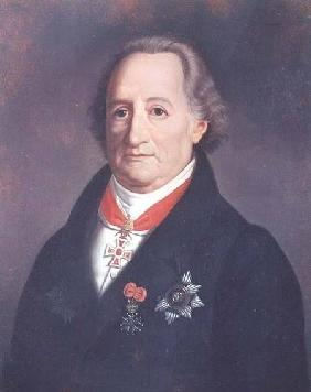 Portrait of Johann Wolfgang von Goethe (1749-1832) with Decorations