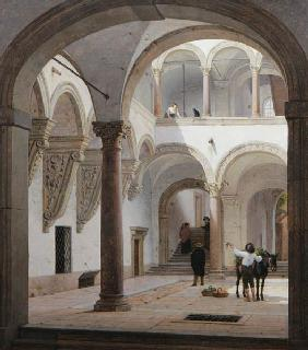 Courtyard of the Palazzo Fava, Bologna 1874