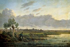 On the Alster at Winterhude 1834