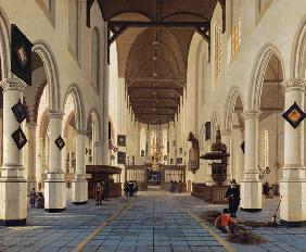 Interior of the Oude Kerk, Delft c.1660-70