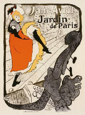 Jane Avril im Jardin de Paris (Plakat) 1893