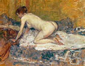 Red-Headed Nude Crouching 1897