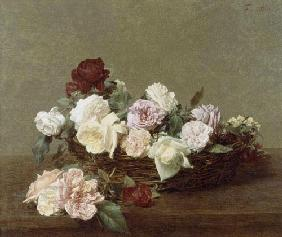 A Basket of Roses 1890