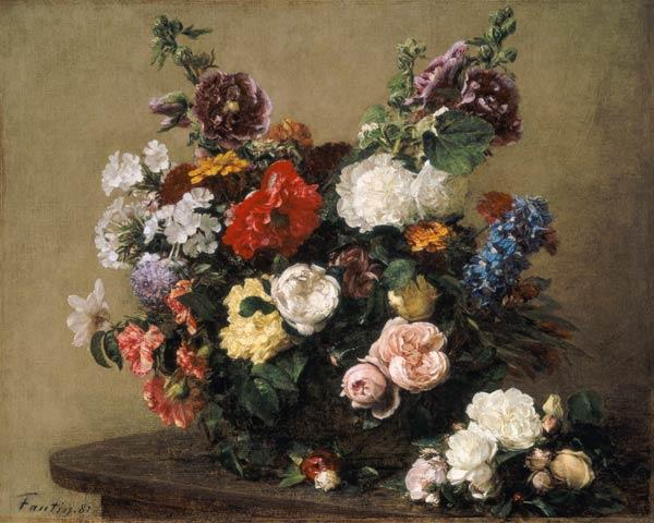 French Roses and Peonies 1881
