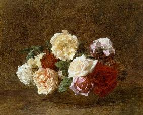 Roses in a bowl 1884