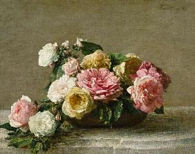 Roses in a Dish 1882