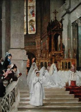 Communion at the Church of the Trinity 1877