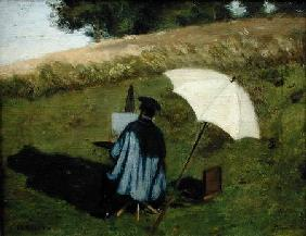 Desire Dubois Painting in the Open Air c.1852