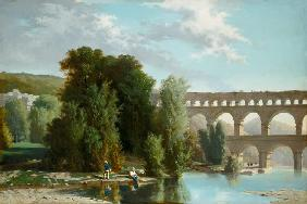 View of the Pont du Gard 1859