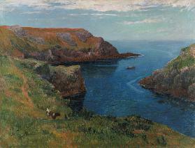Kunstdruck von Henri Moret - An der Küste bei Groix.