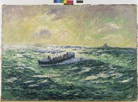 Kunstdruck von Henri Moret - Das Seerettungsboot von Audierne