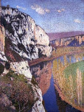 Kunstdruck von Henri Moret - Landscape at Douellens