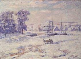 Kunstdruck von Henri Moret - Snow at Quimper
