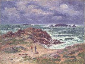 Kunstdruck von Henri Moret - Threshers in Brittany