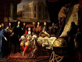 Jean-Baptiste Colbert (1619-83) Presenting the Members of the Royal Academy of Science to Louis XIV c.1667