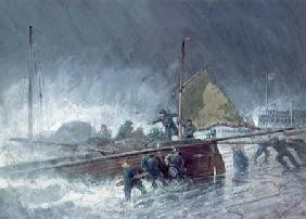 Deal Lugger Putting off in a Storm