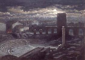The Roman Theatre, Arles, Moonlight