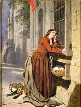 Mother Depositing Her Child in the Foundling Hospital in Paris c.1855-60