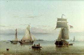 Calm on the Humber 1864